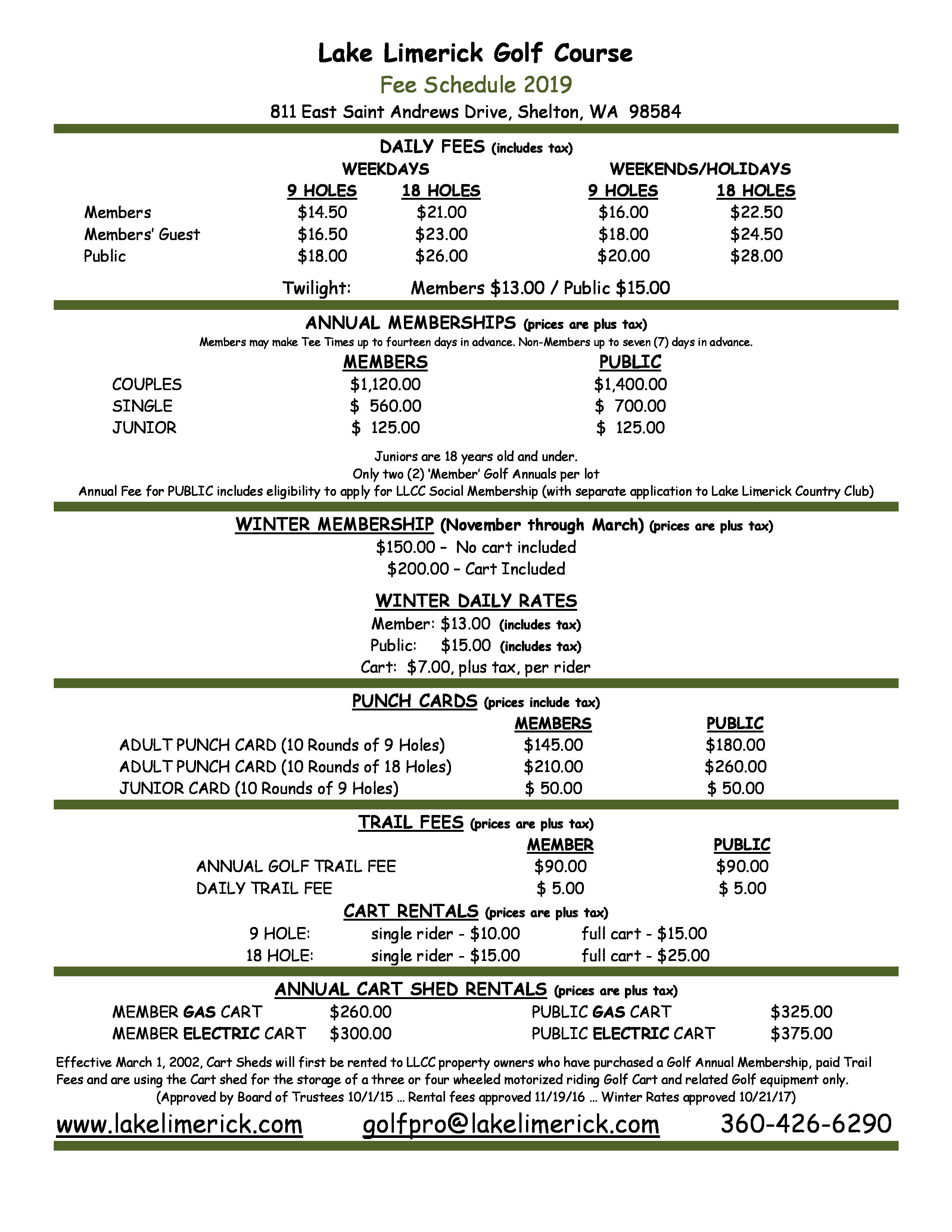 Golf Rate Flyer - Updated to 2019-page-0